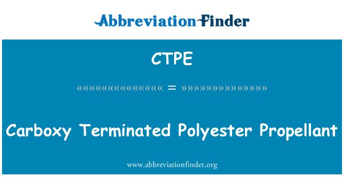 CTPE: Carboxy terminado propulsor del poliester
