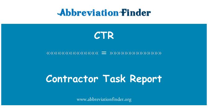 CTR: Contractor Task Report