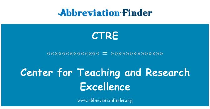 CTRE: Centro para la enseñanza y la investigación de excelencia