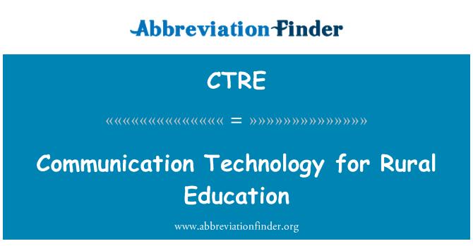 CTRE: Kırsal eğitim iletişim teknolojisi