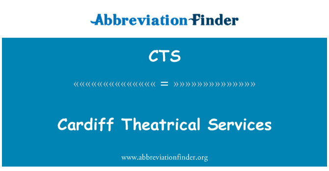CTS: Cardiff Theatrical Services