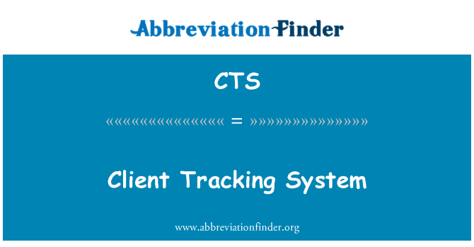 CTS: Client Tracking System