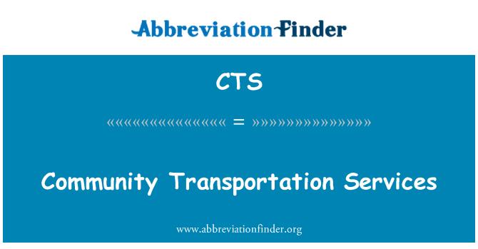 CTS: Community Transportation Services