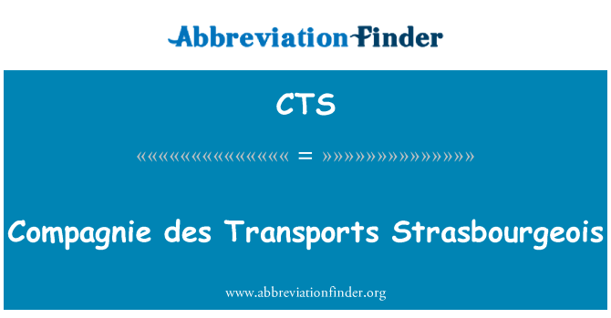 CTS: Compagnie des Transports Strasbourgeois