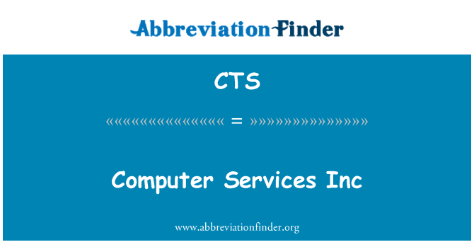 CTS: Computer Services Inc