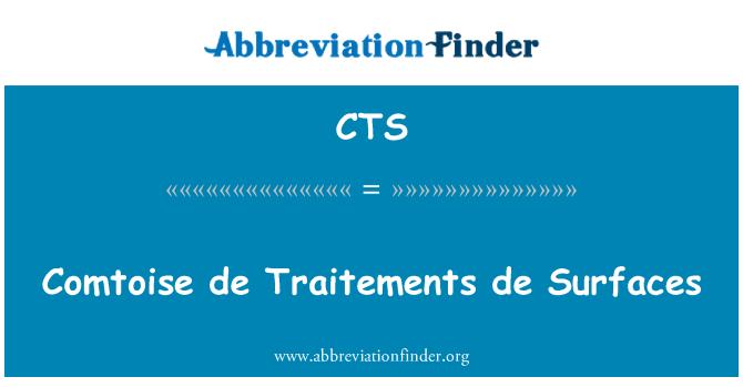 CTS: Comtoise de Traitements de Surfaces