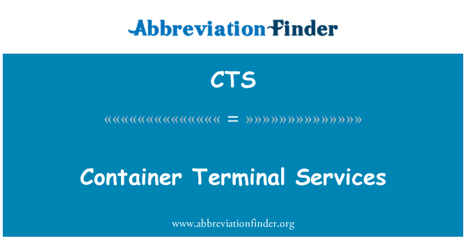 CTS: Container Terminal Services