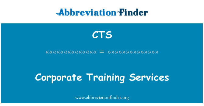CTS: Corporate Training Services