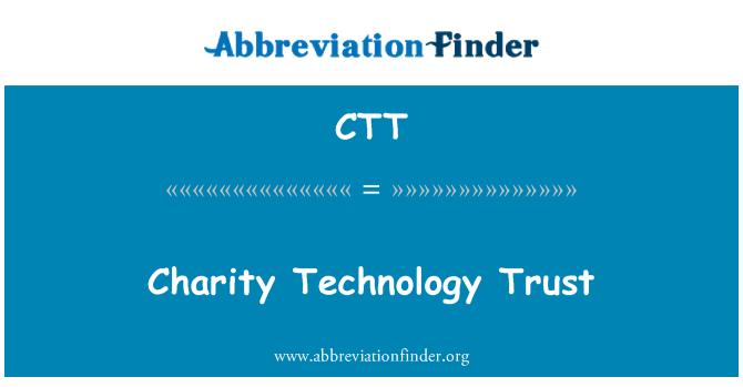 CTT: Charity Technology Trust
