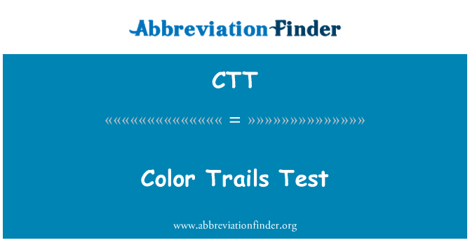 CTT: Color Trails Test