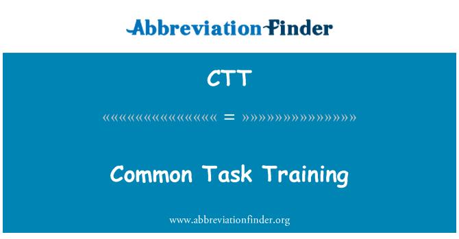 CTT: Common Task Training