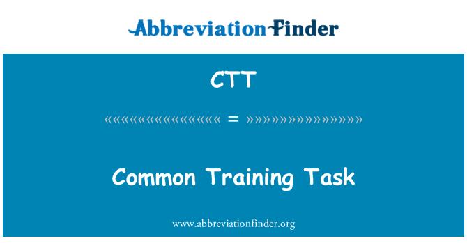 CTT: Common Training Task