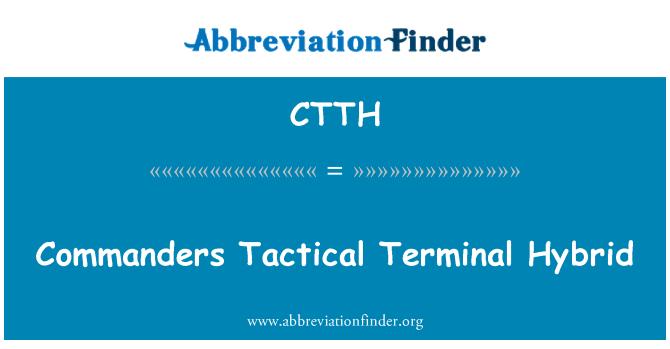 CTTH: Komutanlar taktik Terminal Hybrid