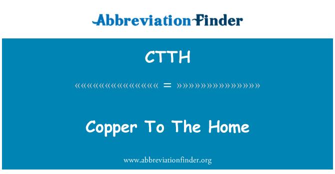 CTTH: Ev için bakır