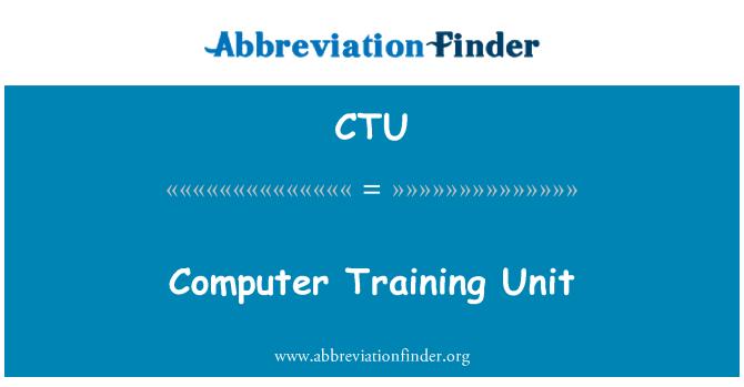CTU: Computer Training Unit