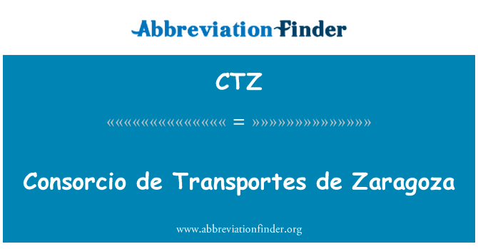 CTZ: Consorcio de Transportes de Zaragoza