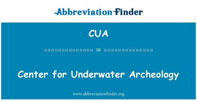 CUA: Center for Underwater Archeology