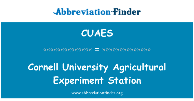 CUAES: Cornell University Agricultural Experiment Station