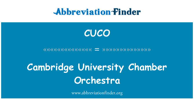 CUCO: Cambridge Üniversitesi Oda Orkestrası