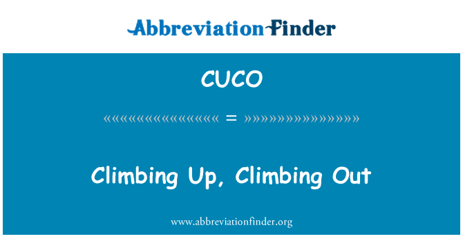 CUCO: Dışarı dağcılık, tırmanma