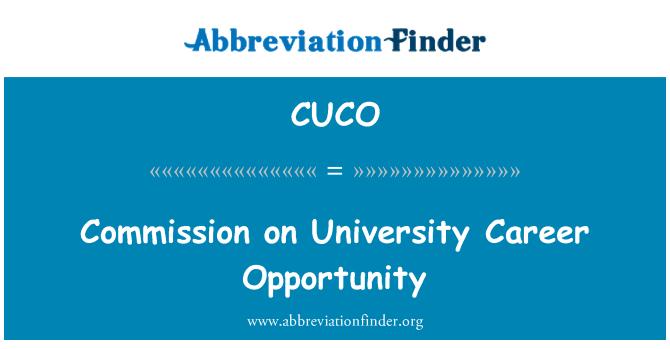 CUCO: Üniversite kariyer fırsatı Komisyonu