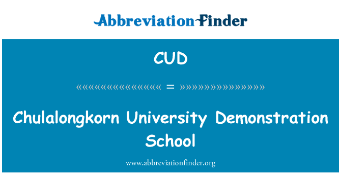 CUD: Chulalongkorn University Demonstration School
