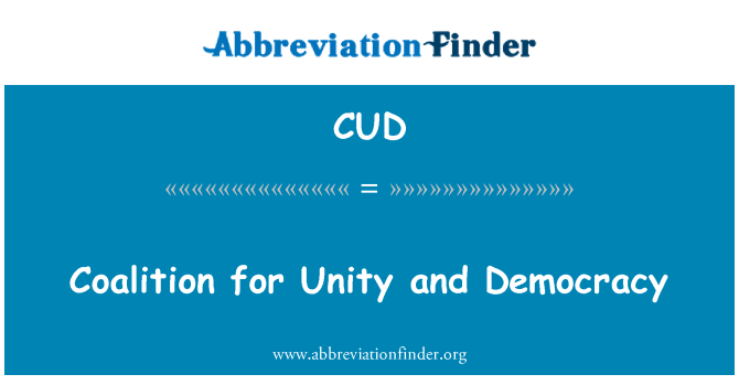 CUD: Coalition for Unity and Democracy