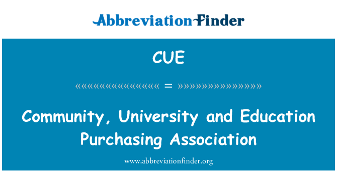 CUE: Community, University and Education Purchasing Association