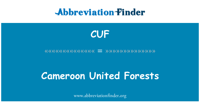 CUF: Cameroon United Forests