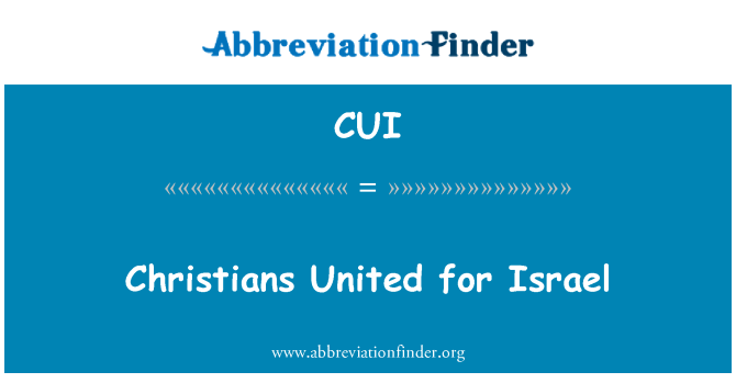 CUI: Christians United for Israel