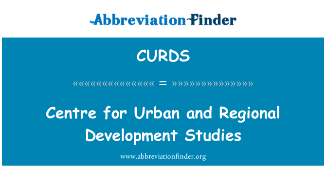 CURDS: Centre for Urban and Regional Development Studies