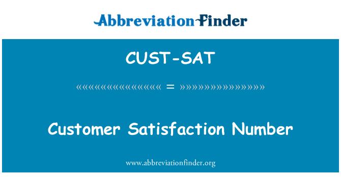 CUST-SAT: Customer Satisfaction Number
