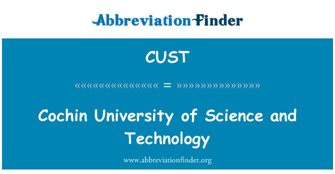 CUST: Cochin Üniversitesi bilim ve teknoloji