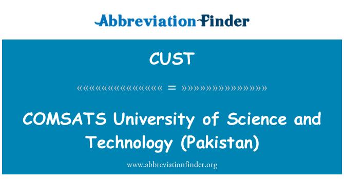 CUST: COMSATS Üniversitesi bilim ve Teknoloji (Pakistan)