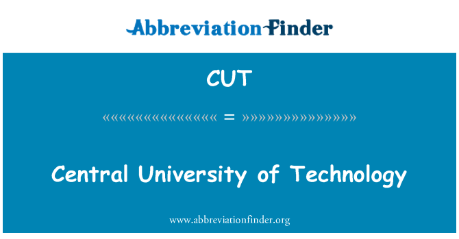 CUT: Central University of Technology