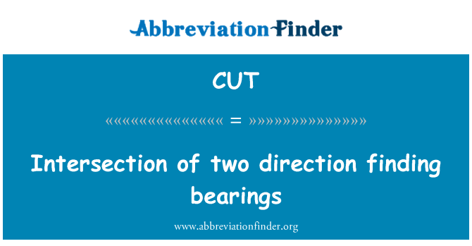 CUT: Intersection of two direction finding bearings