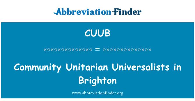 CUUB: Community Unitarian Universalists in Brighton
