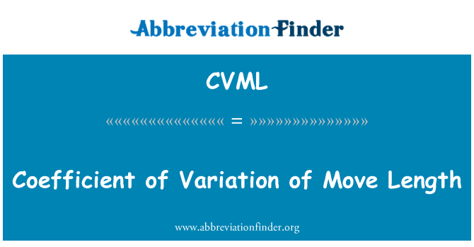 CVML: Coefficient of Variation of Move Length