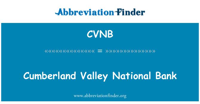 CVNB: Cumberland Valley National Bank