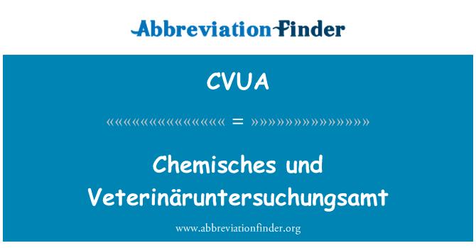 CVUA: Chemisches und Veterinäruntersuchungsamt