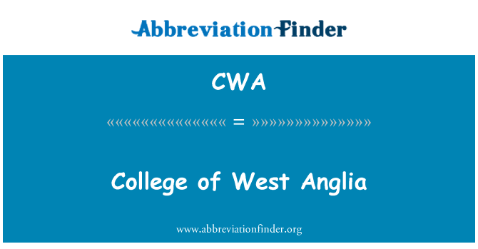 CWA: College of West Anglia