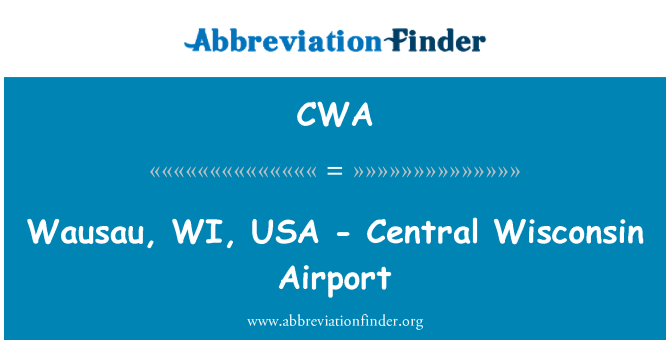 CWA: Wausau, WI, USA - Central Wisconsin Airport