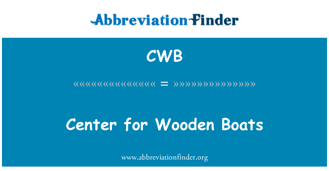CWB: Center for Wooden Boats