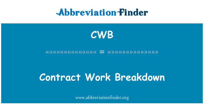 CWB: Contract Work Breakdown