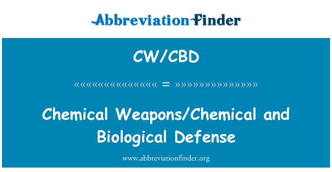 CW/CBD: Chemical Weapons/Chemical and Biological Defense