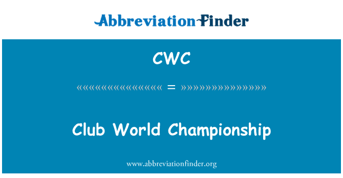 CWC: Club World Championship