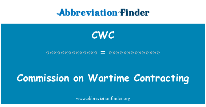 CWC: Commission on Wartime Contracting