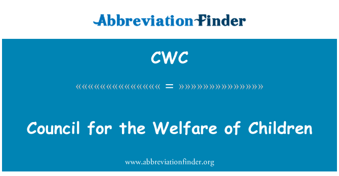 CWC: Council for the Welfare of Children