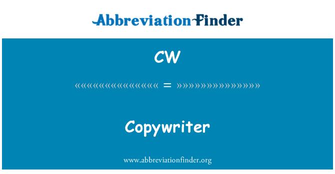 CW: Copywriter