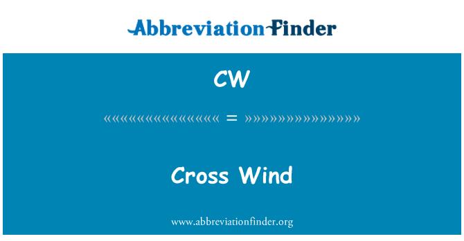 CW: Cross Wind